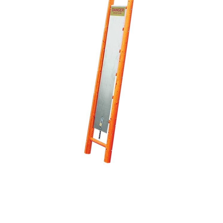 Timber Pole Ladder Guard
