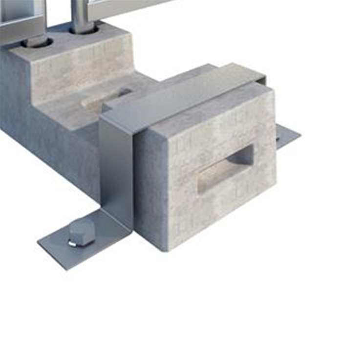 Hoarding Block Retaining Bracket