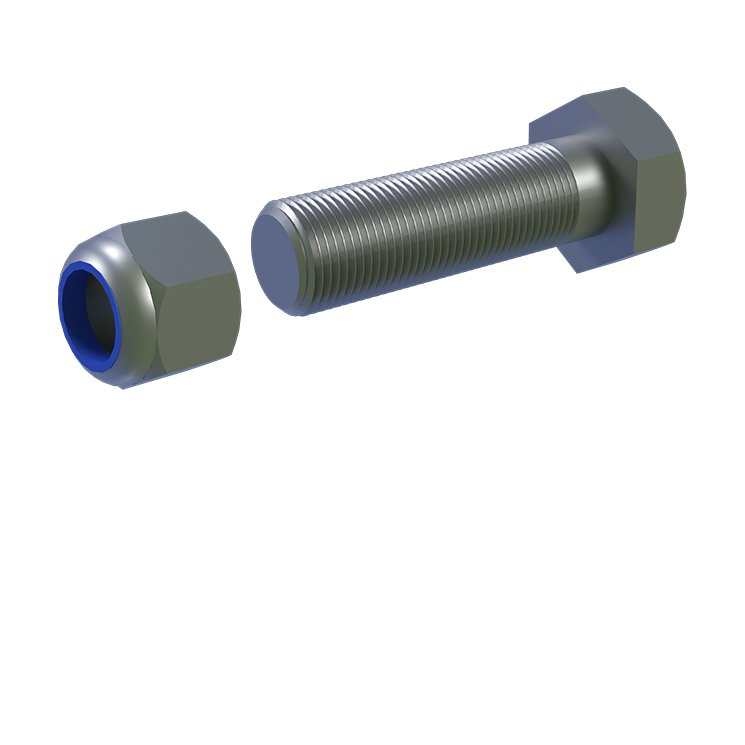 Castor Top Plate M12 x 45mm Bolt